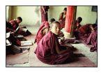 Unterricht im Kloster Spituk, Ladakh