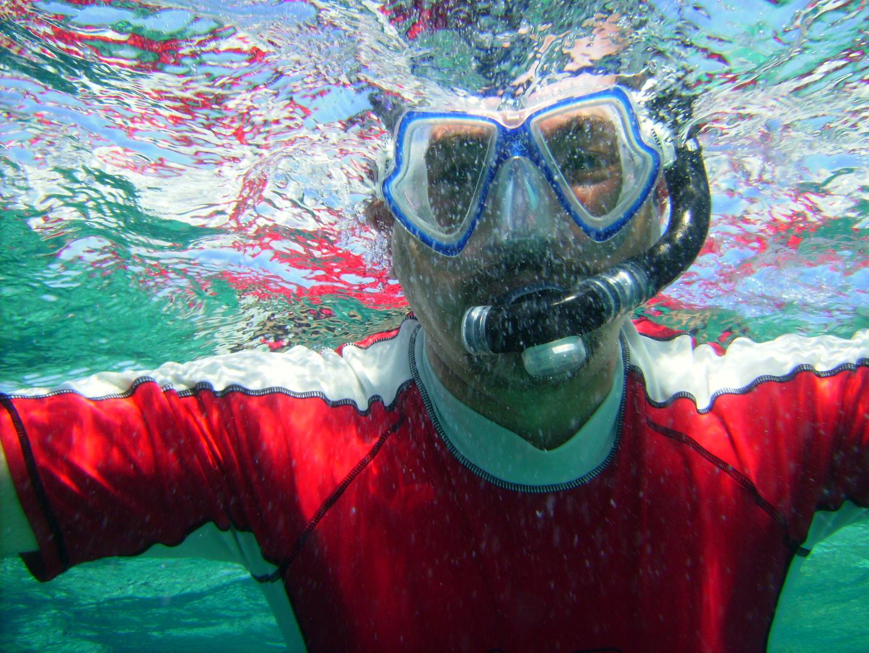 Unterwasser-Portrait des Fotografen
