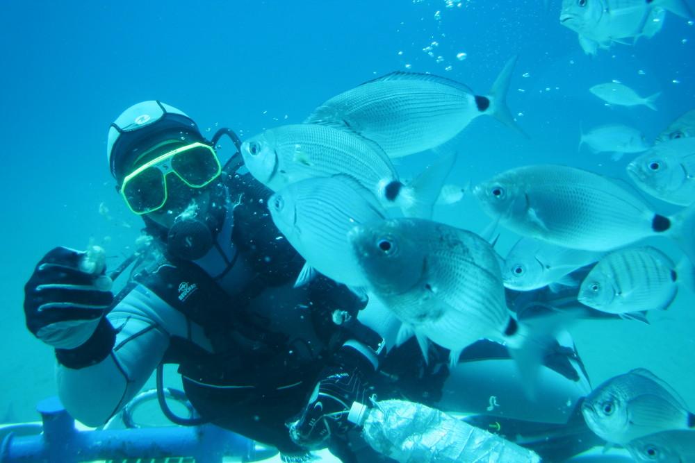 Unterwassermahlzeit