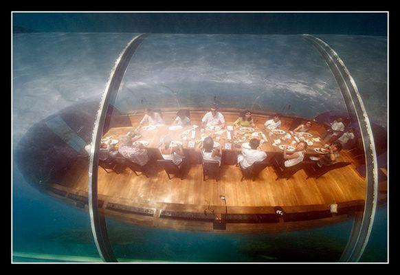 Unterwasserrestaurant auf Rangali (Malediven)