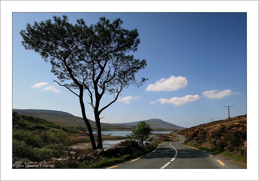 Unterwegs auf der N59 bei Mallaranny (Mulranny) - Irland, County Mayo