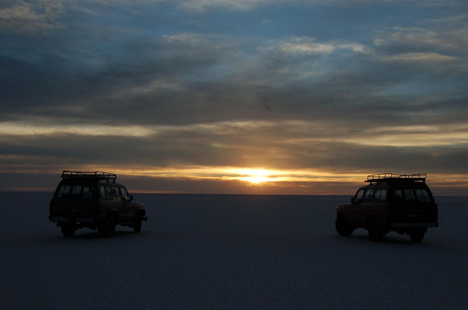 Unterwegs in der Salzwüste