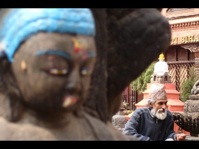 Unterwegs in Kathmandu.
