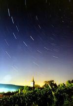 Unterwegs in Transylvanien (6): Sternstrich-Himmel über Siebenbürgischem Dorf