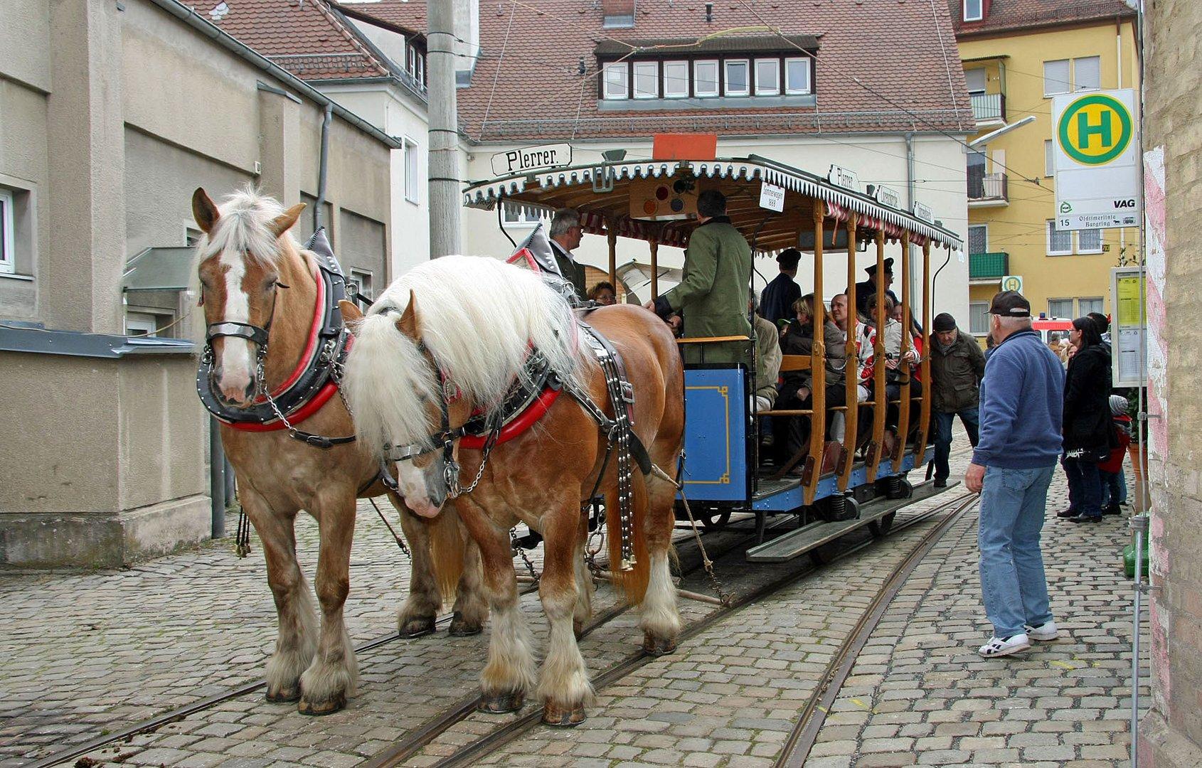 Unterwegs mit der Pferdestraßenbahn