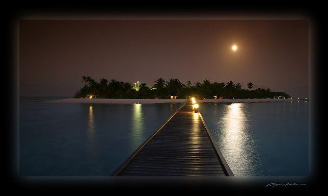 Unterwegs nachts auf Angaga