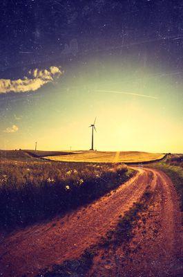Unterwegs zu den Windrädern