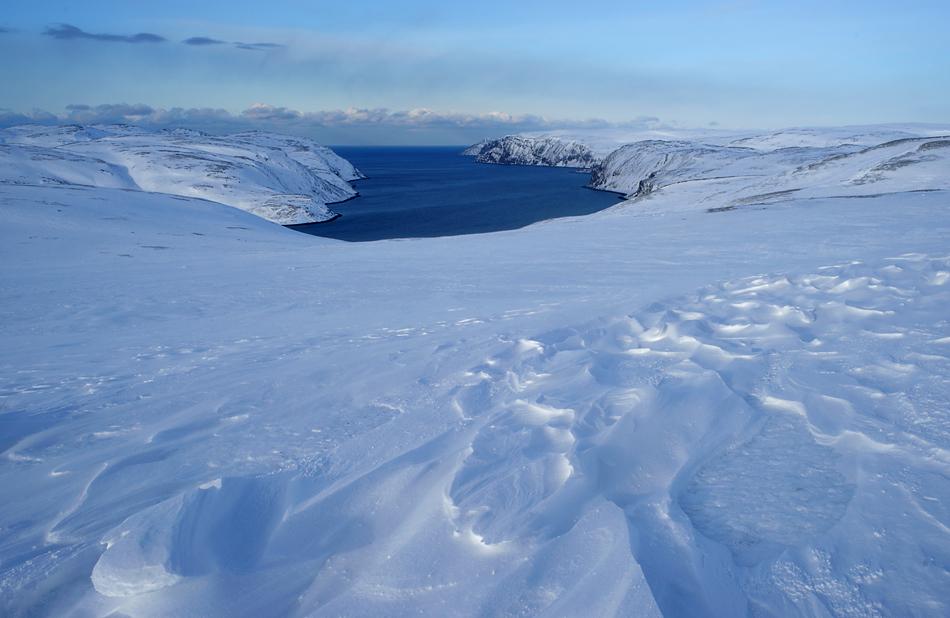 Unterwegs zum Nordkapp im Winter – Blick zum Nordend…..