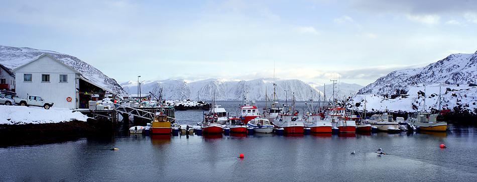 Unterwegs zum Nordkapp im Winter – Der Fischerhafen
