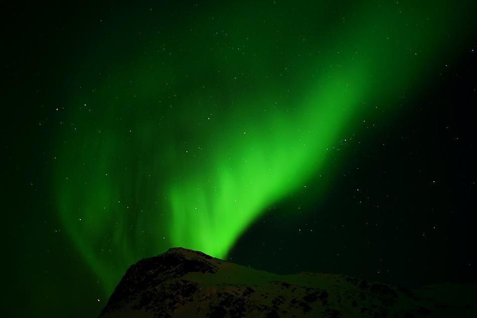 Unterwegs zum Nordkapp im Winter – Der grüne Vulkan ….
