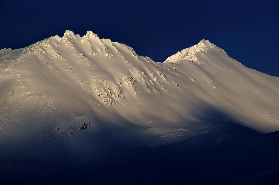 Unterwegs zum Nordkapp im Winter – Weisse Bergwelt