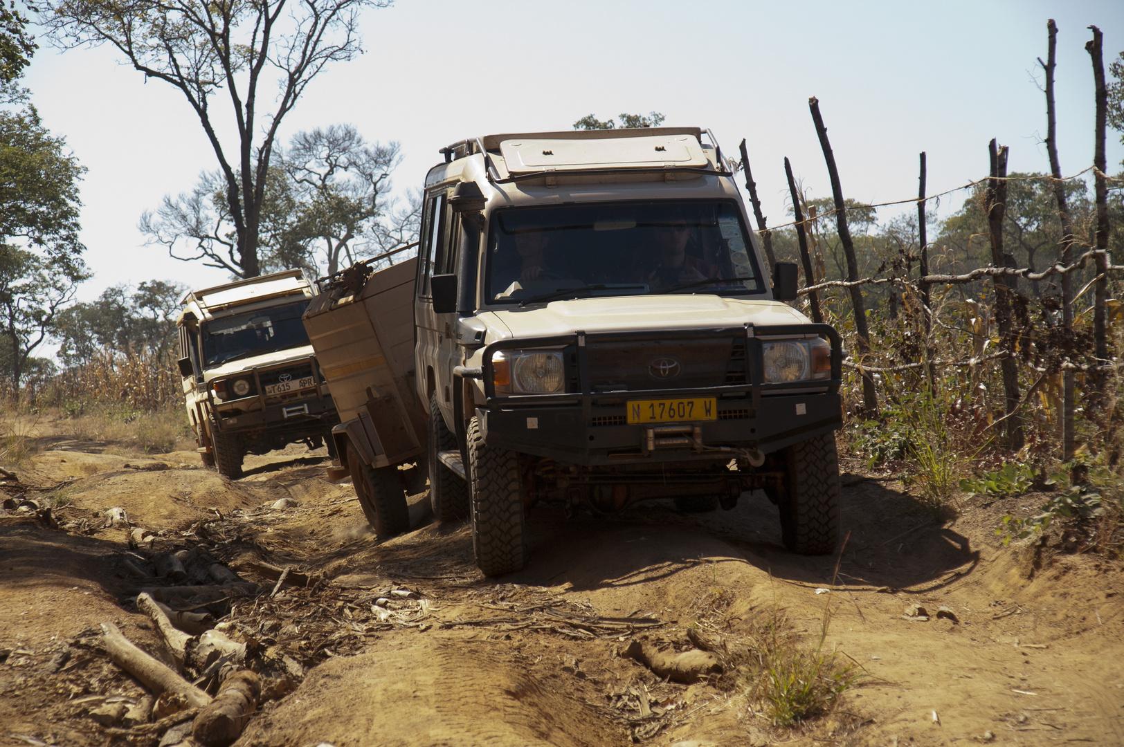 Unterwegs zum North Luangwa NP
