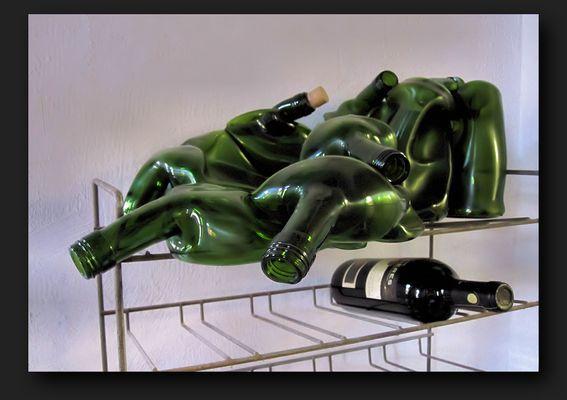 Unusual wine bottles