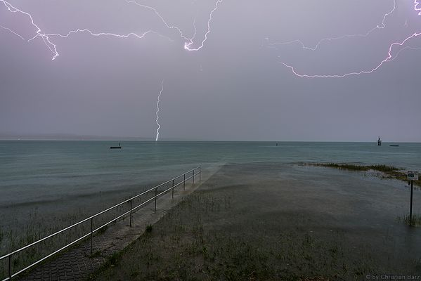 Unwetter am Bodensee