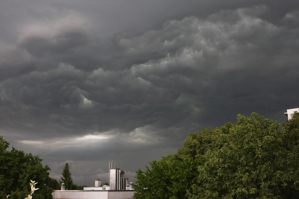 Unwetter im Münchner Norden