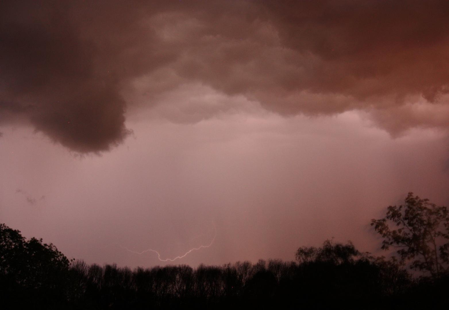 Unwetter in der Nacht