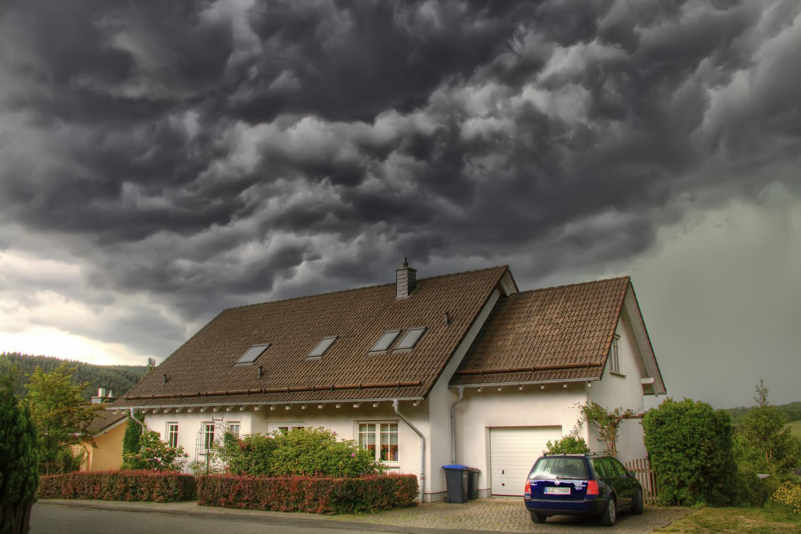Unwetter kommt auf.