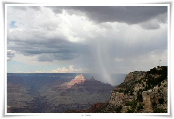 Unwetter über dem Grand Canyon