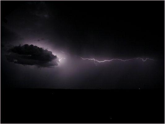 Unwetter über dem Isar-Tal in München
