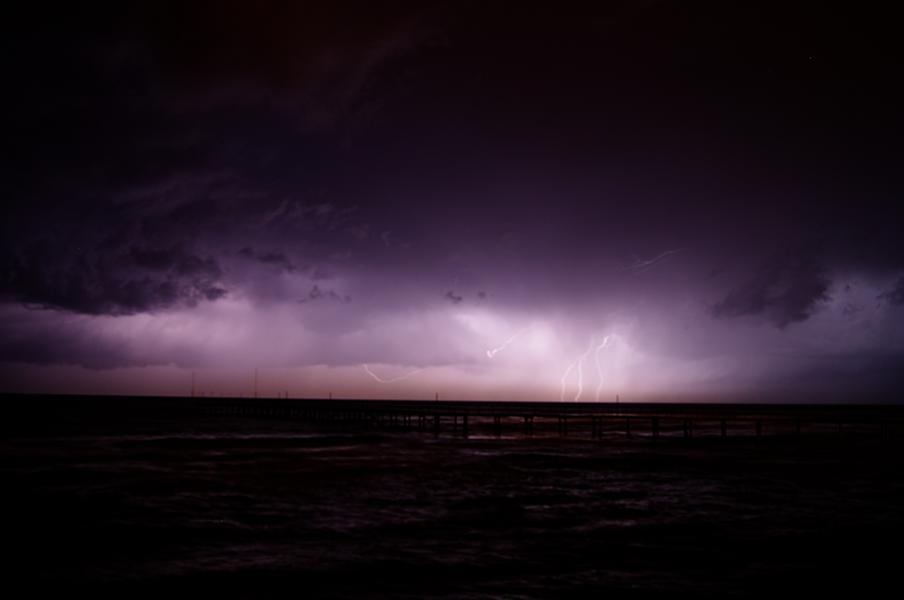 Unwetter über dem Mittelmeer