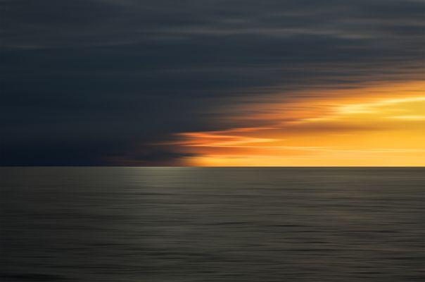 Unwetter über der Nordsee