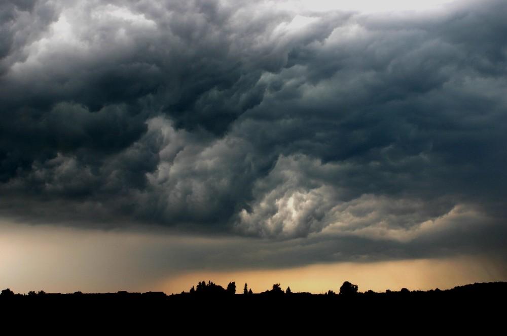 Unwetter über Gernsheim
