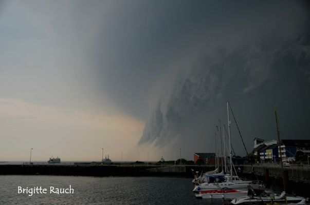 Unwetter über Helgoland