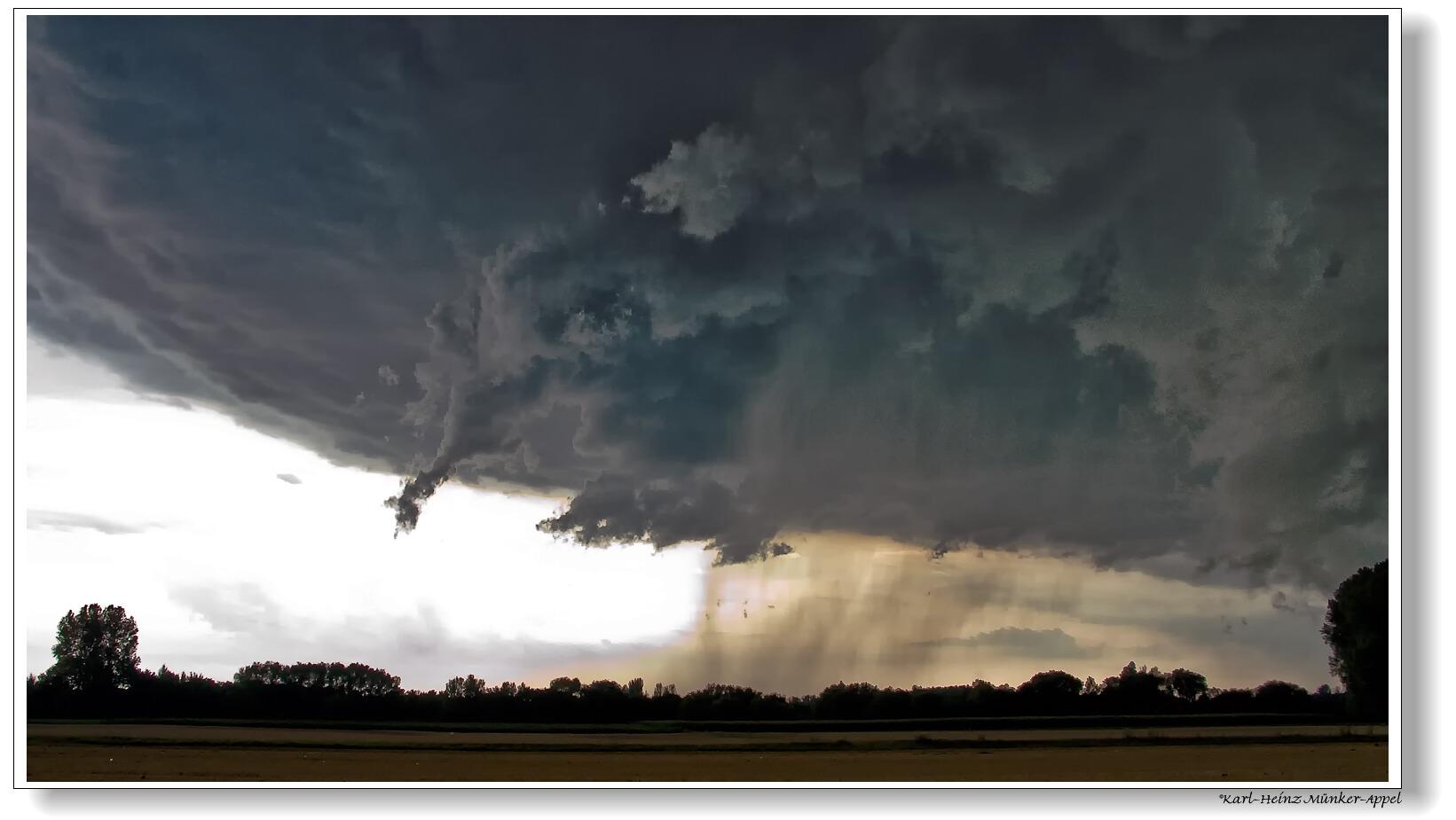 Unwetter über Hückelhoven 2009