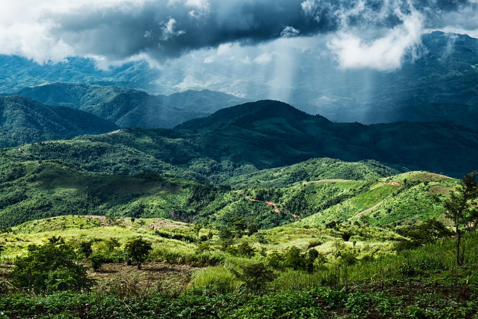 Unwetter über Myanmar, Thailand 2013