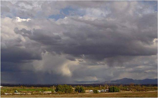 Unwetter über Tucson Arizona