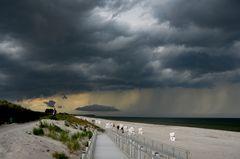 Unwetter vitte Insel Hiddensee