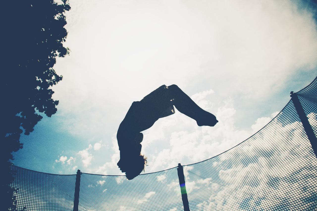 Up in the sky backflip