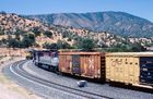 UP´s Eastbound and Westbound meets at Tehachapi Loop...