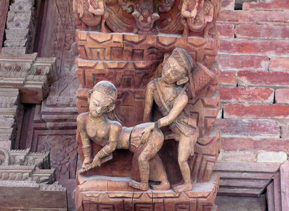 uralte Holzfresken am Goldenen Tempel