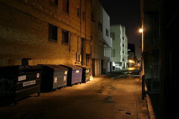urbanes nachtlicht