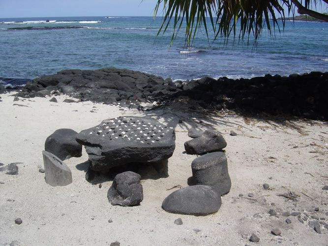 Urhawaiianisches Dorf auf Hawaii