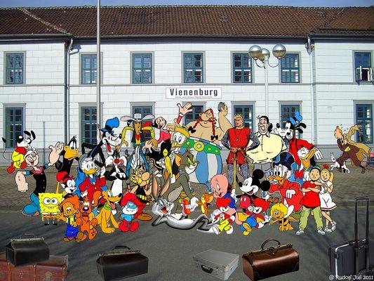 Urlaub der Comic-Helden
