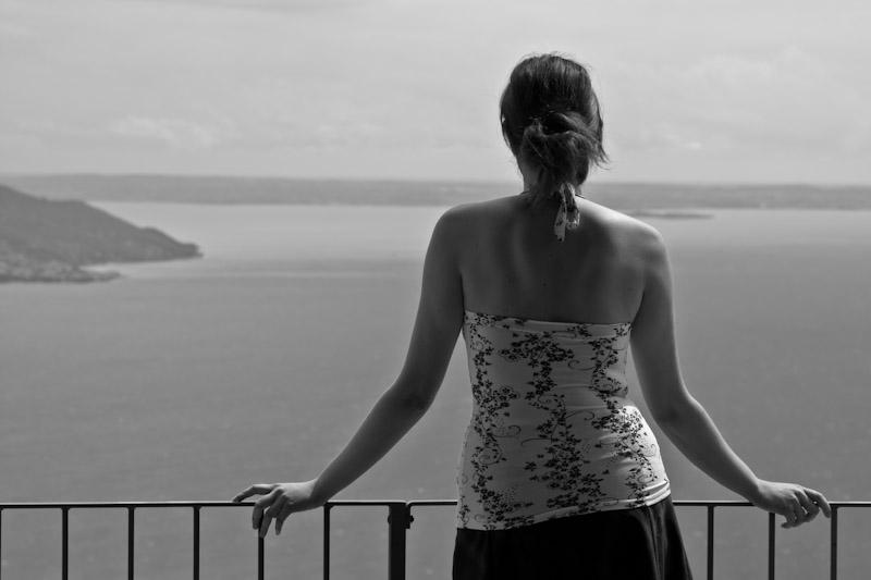 Urlaub in schwarz weiß