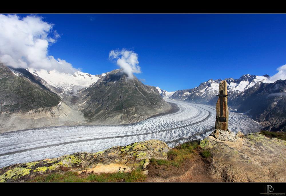 Urlaubsgrüsse vom Aletschgletscher
