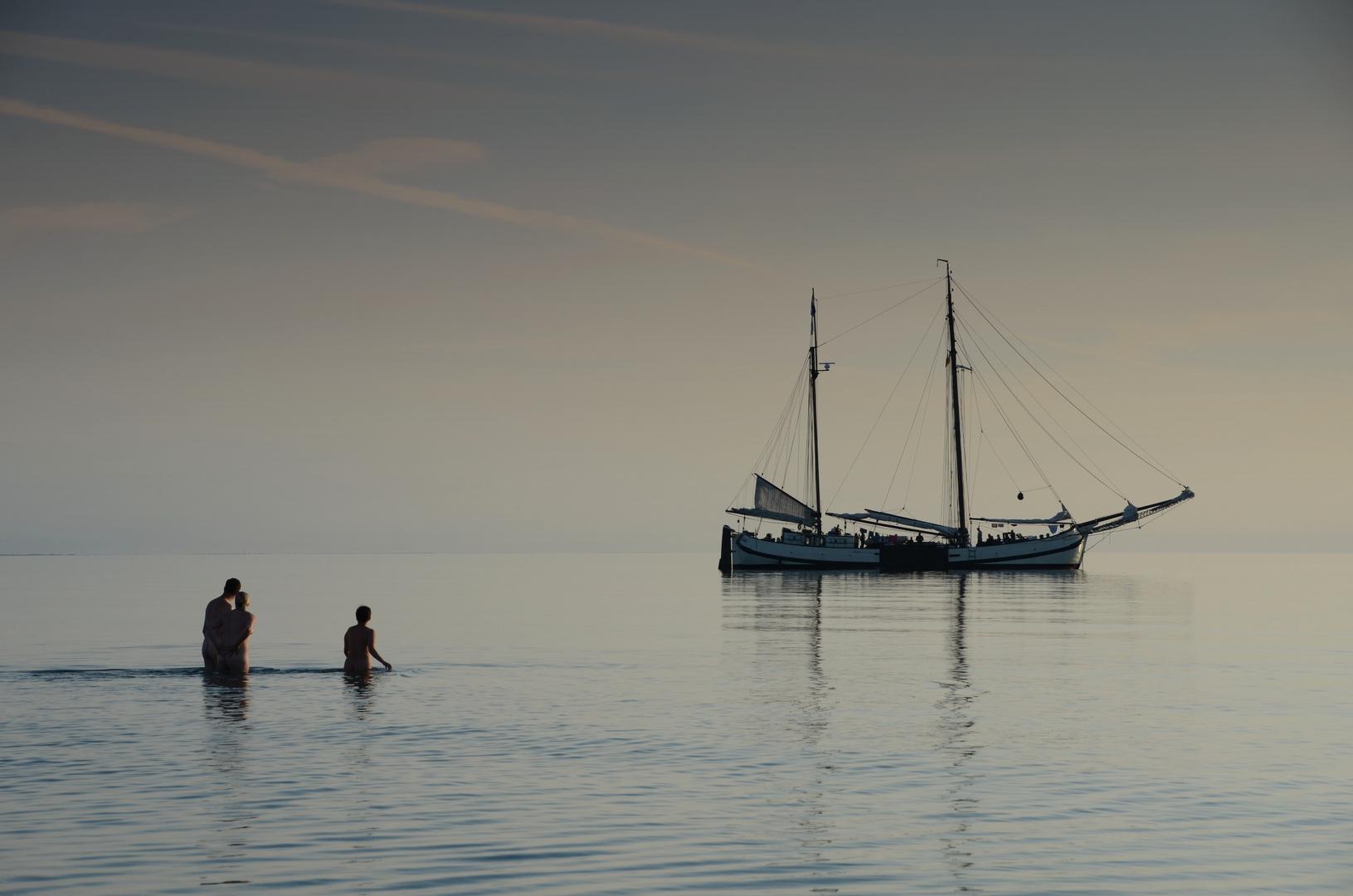 Urlaubsstimmung am Strand von Hiddensee