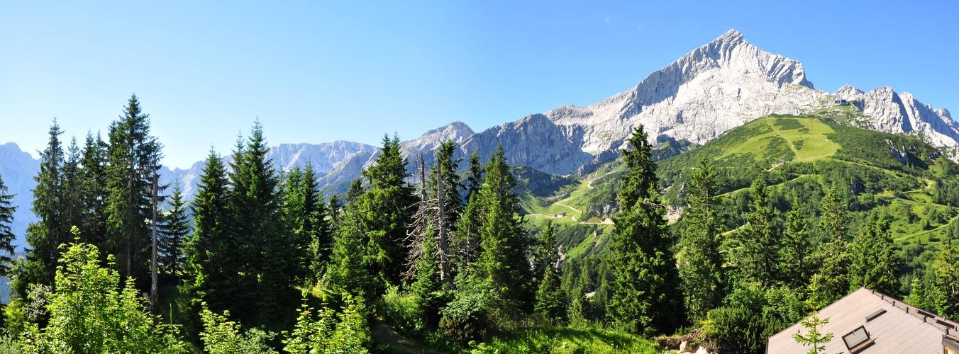Urlaubstage in Grainau- Kreuzeckalm.........Panorama