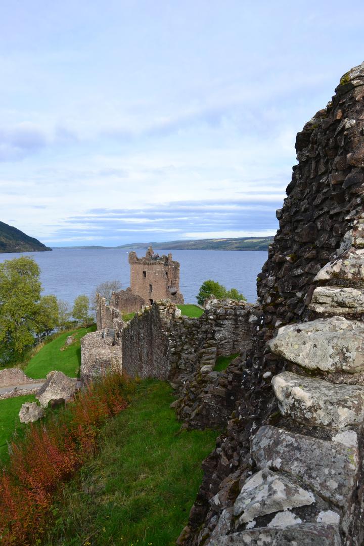 Urquhart Castle am Loch Ness, Schottland