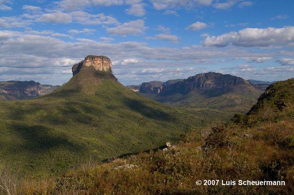 Urzeitlandschaft (Vale do Pati, Chapada Diamantina, Nordost-Brasilien)