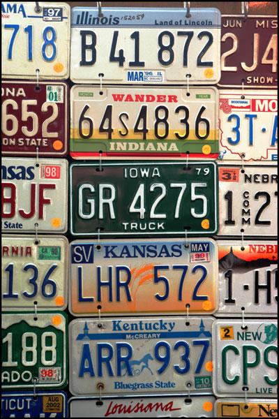 US Autonummern