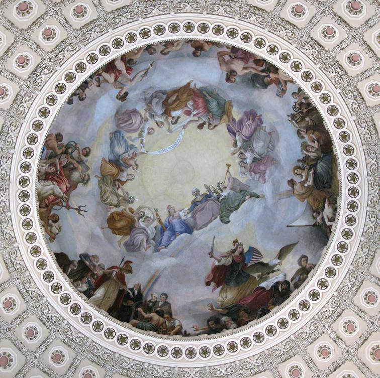 """U.S. Capitol - """"The Apotheosis of Washington"""""""