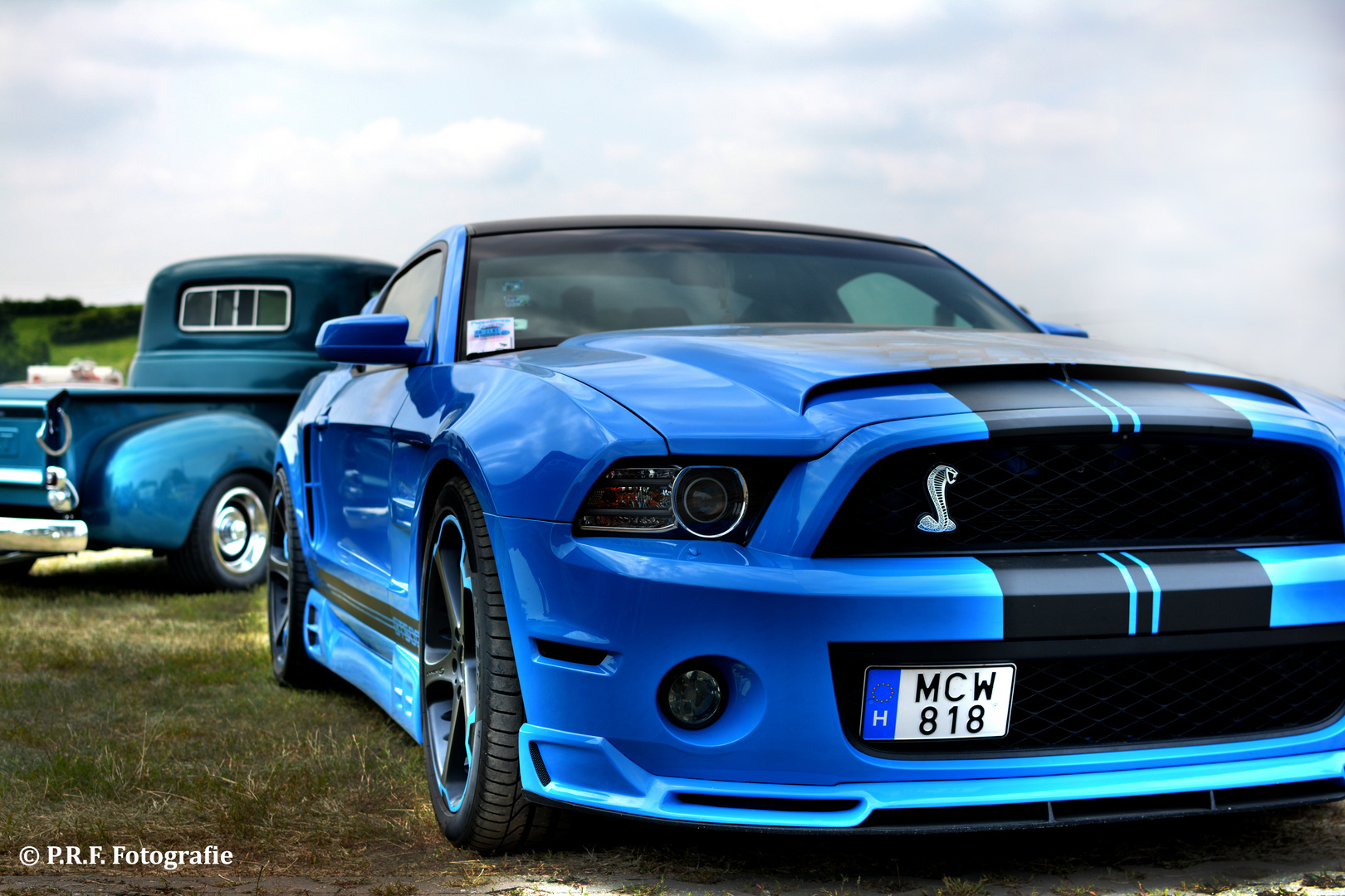 US Car Convention Dresden Blue Shelby