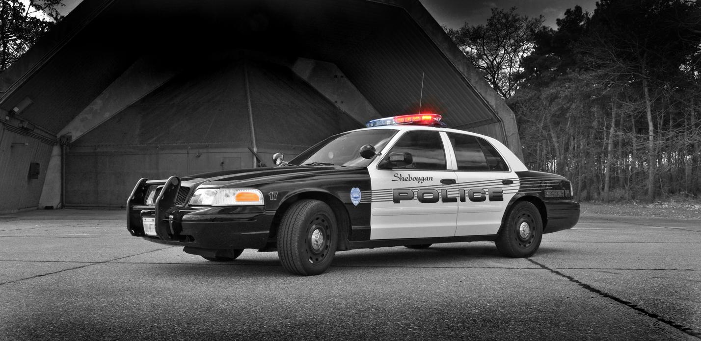 US Policecar vor Shelter