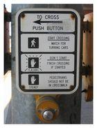 USA - Anleitung für Fußgänger zur Straßenüberquerung