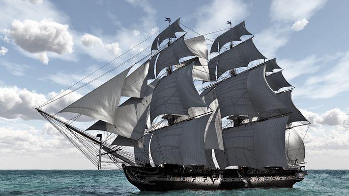 USS Constellation 1797 mit Vue seven