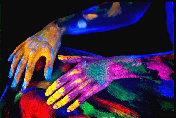 UV-LIcht Bodypainting